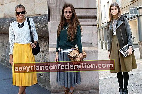 Bagaimana Memakai Kasut dengan Midi Skirt?
